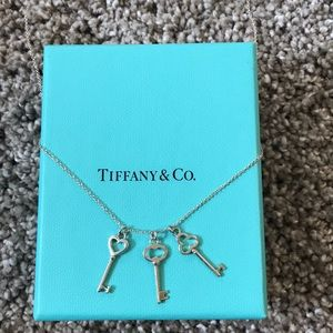 Authentic Tiffany 3-Key Sterling Silver Necklace